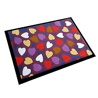 Floor mats of hearts hearts