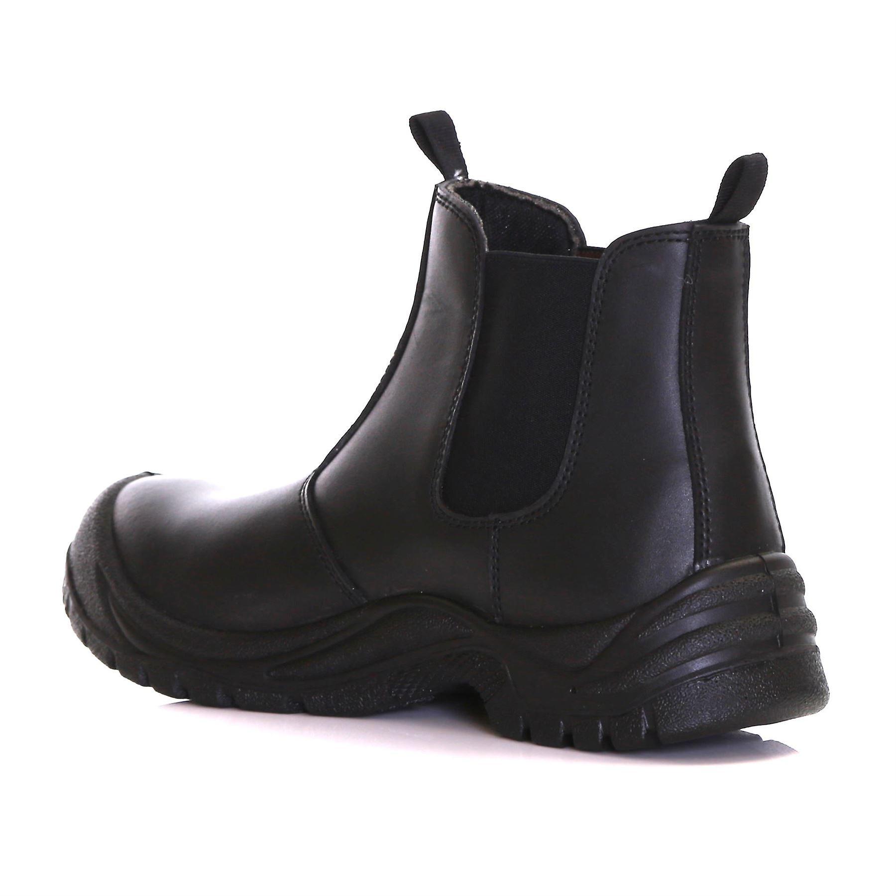 Slimbridge Goslar Size 12 Chelsea Safety Boots, Black