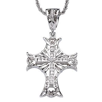 Iced out bling hip hop chain - Gothic cross