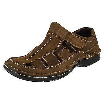 Mens Padders Closed Toe Leather Sandals Breaker