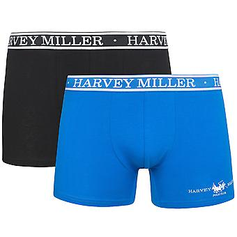 2 Pack Harvey Miller Polo Club shorts men's Boxer multicolor