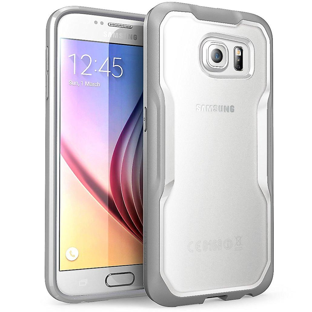 SUPCASE Samsung Galaxy S6 Case - Unicorn Beetle Case - Clear/Gray