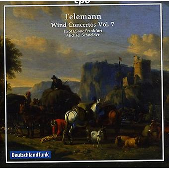G.P. Telemann - Telemann: Wind Concertos, Vol. 7 [CD] USA import