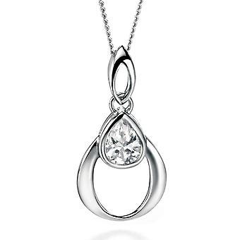 925 Silver Fashionable Zirconium Necklace