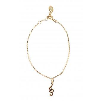 W.A.T Gold Plated Sterling Silver Treble Clef Bracelet By Kissika