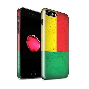STUFF4 glans terug Snap-On telefoon Hardcase voor de Apple iPhone 7 Plus / Benin/Beninese Design / Afrikaanse vlag collectie