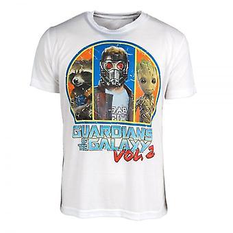 Vogtere af Galaxy vogtere af T produkt Resumé (ord: 0) han Galaxy Vol. 2 trup T Shirt hvid