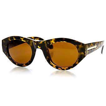 High Fashion Bold Rim Oval Womens Sunglasses