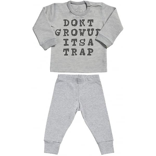 Spoilt Rotten Don't Grow Up It's A Trap Sweatshirt & Jersey Trousers Baby Outfit Set