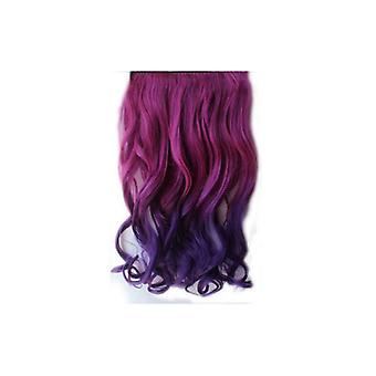 The Fashion Bible 22 Inch Synthetic Clip In Dip Dye Ombre Weave