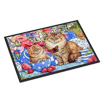Carolines Treasures  CDCO0200MAT Blue Cats Indoor or Outdoor Mat 18x27