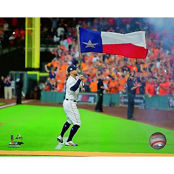 George Springer Game 1 of the 2017 American League Division Series Photo Print
