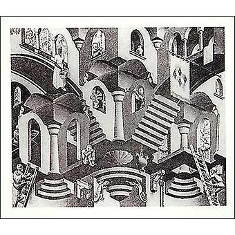 Concave and Convex - MC Escher Poster Poster Print