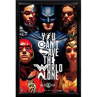 Justice League - Signed Movie Poster