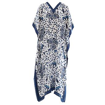 Dianora Salviati ladies DRS01SATBLUE Blau silk dress