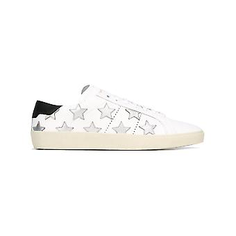 Saint Laurent men's 421572CN5F09243 silver/white leather of sneakers