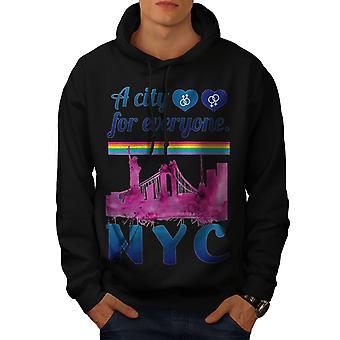 Pride Love Urban New York Men BlackHoodie   Wellcoda