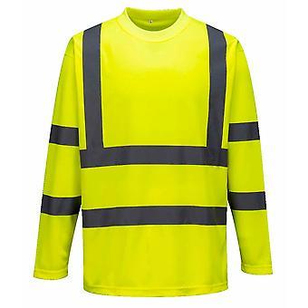 Portwest - Hi-Vis Workwear Langarm T-Shirt aus Baumwolle Komfort