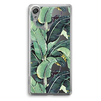 Sony Xperia XA1 Transparent Case - Banana leaves