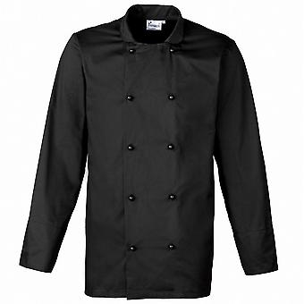 Premier Mens Cuisine Long Sleeve Polycotton Workwear Chef Jacket
