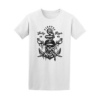 Pirate Skull With Anchor  Tee Men's -Image by Shutterstock