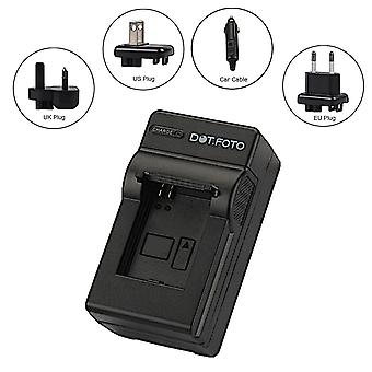 Dot.Foto Panasonic DMW-BCK7, DMW-BCK7E, DMW-BCK7PP, NCA-YN101H Travel Battery Charger - replaces Panasonic DE-A92 [See Description for Compatibility]