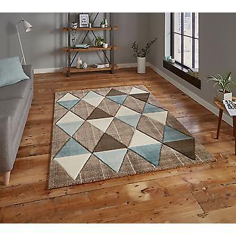 Brooklyn 21896 Beige Blue  Rectangle Rugs Modern Rugs