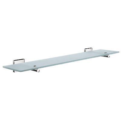 House Glass Bathroom Shelf 60cm Polished Chrome RK347