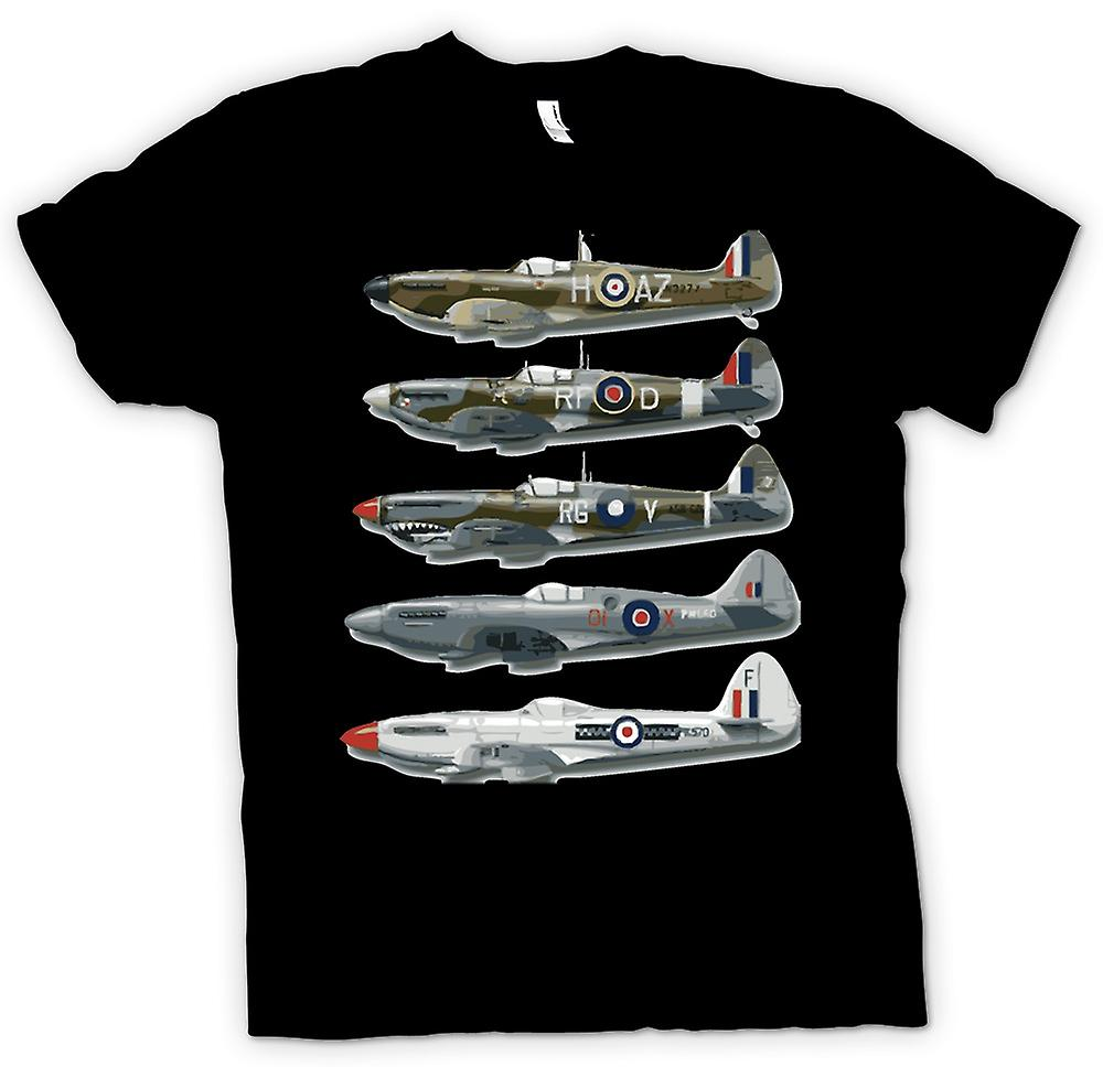 Mens T-shirt - 5 Spitfires Collage - Zitat