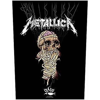 Metallica Back Patch One Band Logo Official New Black woven (36cm x 29cm)