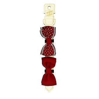 Conjunto de corbata de moño rojo para gatos y perros