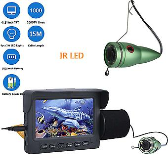 4.3 Inches 1 x 6 Infrared Night Vision Lamp Finder 15 Meters Underwater Fishing Video Monitor