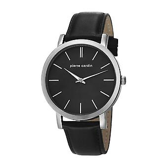 Pierre Cardin mens watch wristwatch Bonne Nouvelle leather PC106511F02