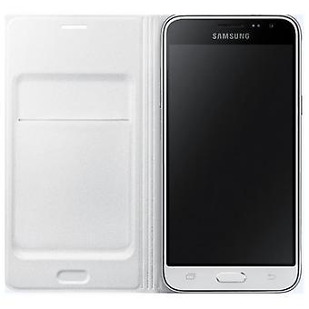 Blanco Samsung flip tapa de bolsa de cartera EF WJ320 galaxia J3 2016