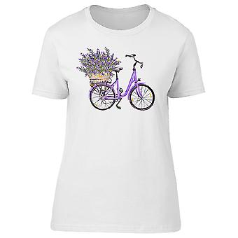Vintage Bicycle Lavender Flowers Tee Women's -Image by Shutterstock