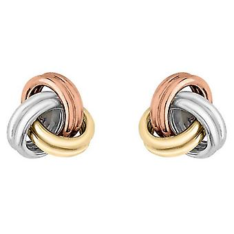 IBB London Small Knot Stud Earrings - Gold/Silver/Rose Gold