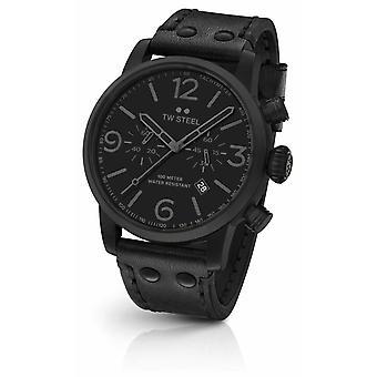 TW Steel Maverick Caliber Chronograph Black Leather Strap black Dial MS114 Watch