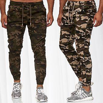 Men's Camouflage Pants Slim Stretch Waistband Military Trousers Leisure Pattern
