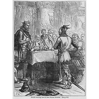 Harold Receiving News of the Norman Invasion.. - Postcard (Pack of 8) - Art247 Highest Quality