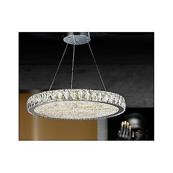 Schuller Dana Luxury Circular Crystal Ceiling Pendant, 49cm