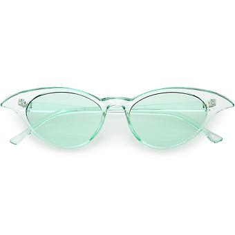Translucent Retro Cat Eye Sunglasses Color Tinted Lens 52mm