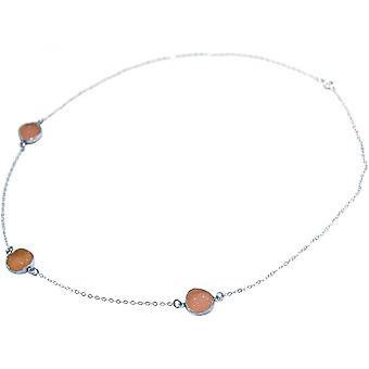 Damas - collar - 925 plata esterlina - DRUZY - rosa - cuarzo - 50 cm