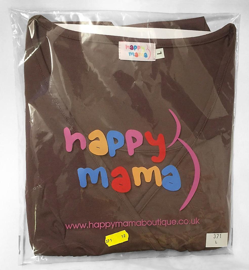 Happy Mama. Women's Maternity Stretch Jersey Dress Short Sleeve S-4XL. 081p