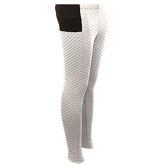 Ladies Quilted Stretch High Waist Comfy Women's Warm Winter Leggings Trousers