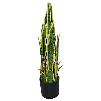 55cm Artificial Sansevieria Yellow Green Indoor Plant