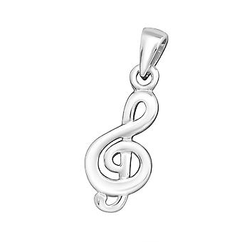 Music Note - 925 Sterling Silver Plain Pendants - W21703x