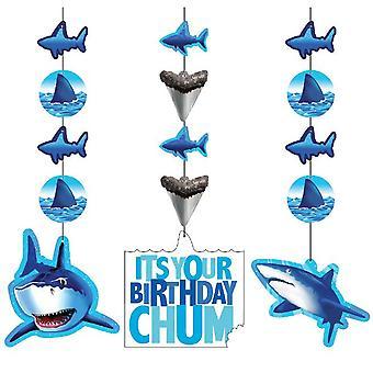 つるし飾り要素 3 作品サメ サメ パーティー誕生日飾りサメ サメ パーティー