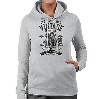 Ouderwets Vintage film Camera vrouwen Hooded Sweatshirt