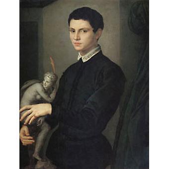 Portrait of a Sculptor, Agnolo Bronzino, 50x40 cm