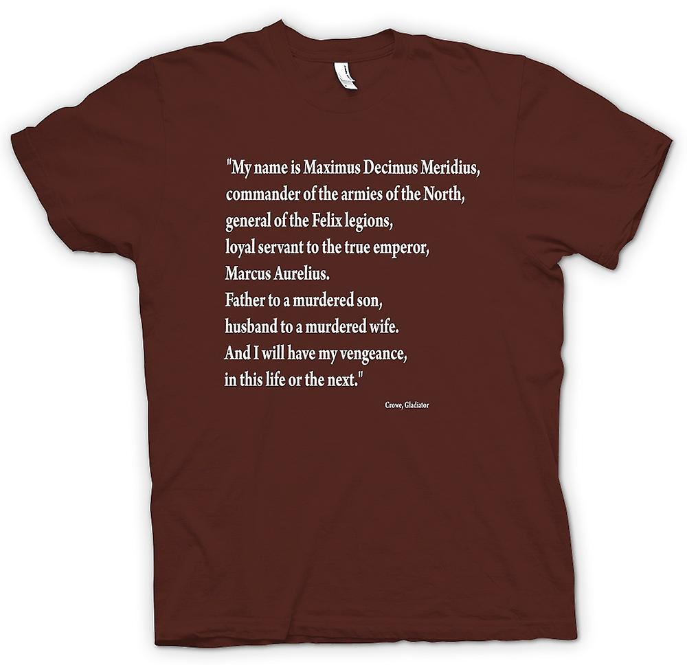 Mens T-shirt - Gladiator - Quote - Russell Crowe